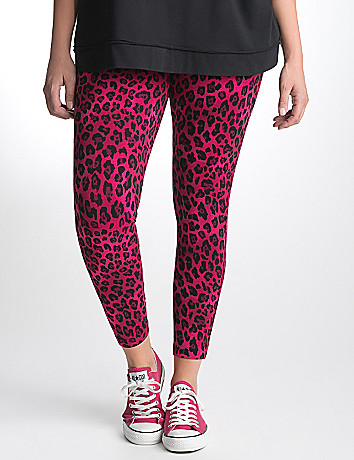 Animal print active legging by Lane Bryant