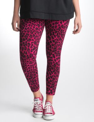 Animal print active legging