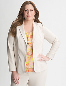 Double weave stretch blazer by Lane Bryant