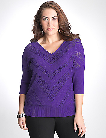 Full figure Chevron Sweater by Lane Bryant