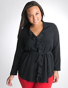 Full figure Ruffled Blouse by Lane Bryant