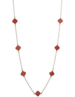 Black & goldtone station necklace by Lane Bryant