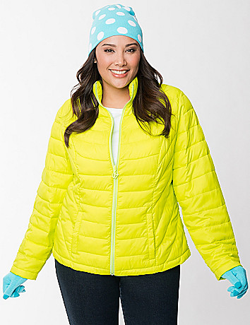 Full Figure Puffer Jacket by Lane Bryant