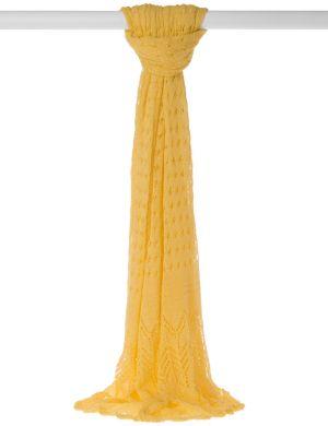 Pointelle crochet scarf