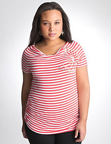 Striped butterfly embellished top by Lane Bryant
