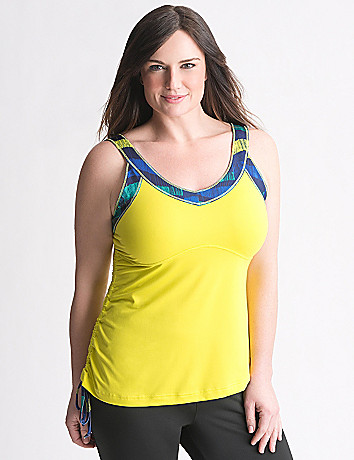 Plus Size Asymmetric Active Tank by Reebok