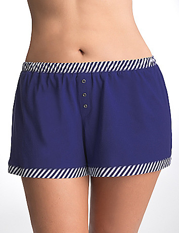 Full Figure Striped Sleep Shorts by Cacique