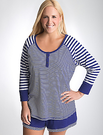 Plus Size Striped Sleep Top by Cacique