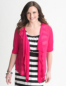 Plus Size Short Sleeve Shrug by Lane Bryant