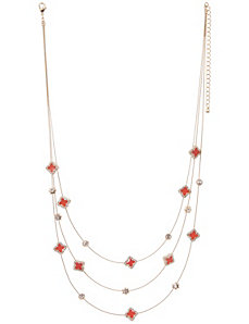 Goldtone illusion necklace by Lane Bryant