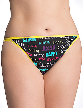 Sexy plus size Stretch cotton string bikini panty