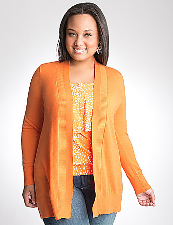 Plus Size Garter stitch sweater by Lane Bryant