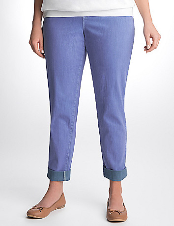 Plus Size Double Dye Cuffed Ankle Jean by Lane Bryant