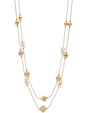 Nested bead necklace by Lane Bryant