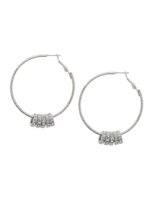 Rhinestone ring hoop earrings by Lane Bryant