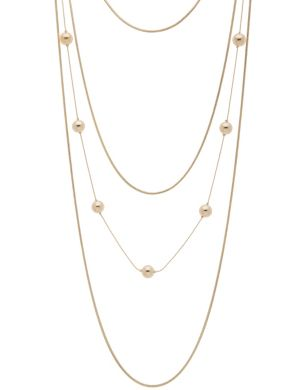 Tiered chain necklace by Lane Bryant