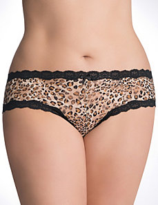Plus size lace cheeky panty by Cacique