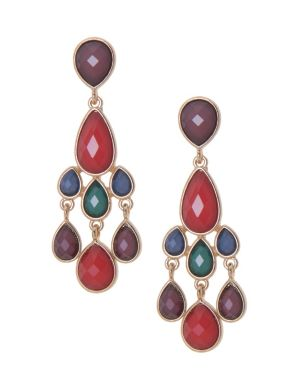 Faux gem chandelier earrings by Lane Bryant
