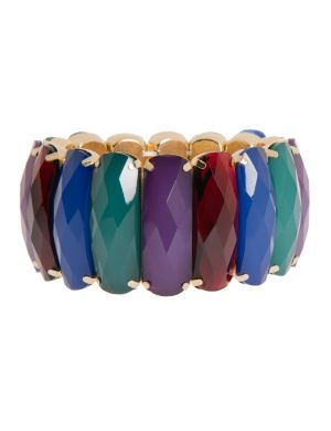 Multi stone stretch bracelet by Lane Bryant