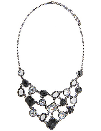 Multi stone bib necklace by Lane Bryant