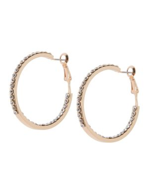 Rhinestone hoop earrings by Lane Bryant