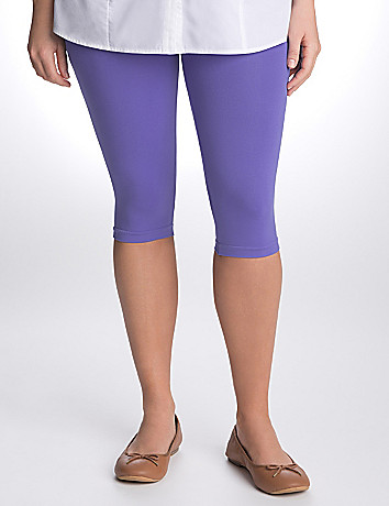 Plus Size Control Top Capri Legging by Lane Bryant