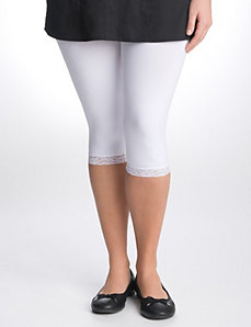 Full Figure Lace Trim Legging by Lane Bryant