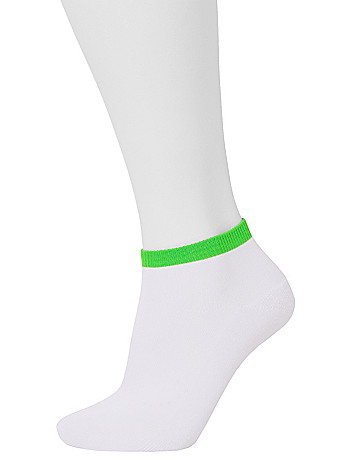 Colored ankle sport socks 2 pack by Lane Bryant