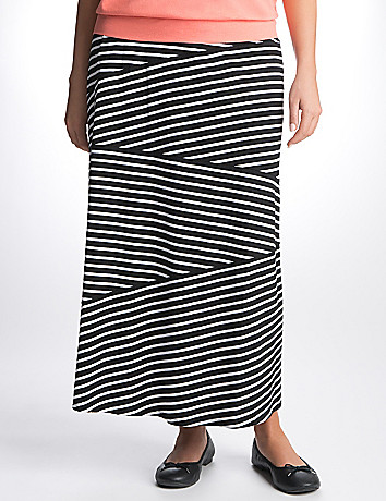 Full Figure Striped Skirt by Lane Bryant