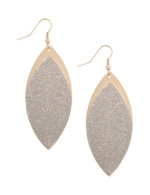 Glitter leaf earrings by Lane Bryant