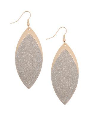 Glitter leaf earrings by Lane Bryant