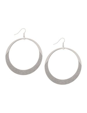Glitter dipped hoop earrings by Lane Bryant