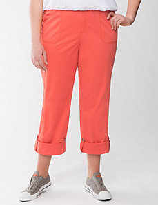 Convertible twill pant by Lane Bryant