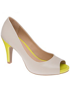 Wide Width Color Pop Peep Toe Pump by Lane Bryant