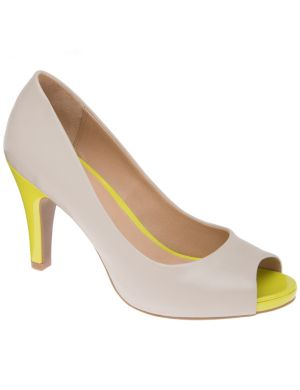 Color pop peeptoe pump