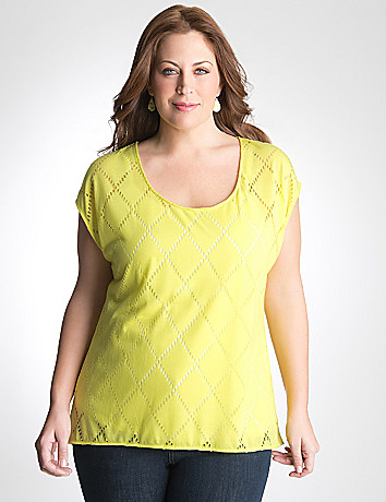 Plus Size High Low Top by Lane Bryant