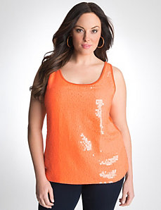 Plus Size Sequin Tank by Lane Bryant