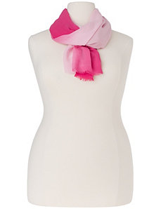 Dip dye scarf by Lane Bryant