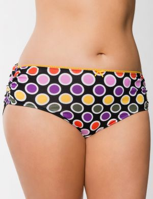 Linear Dots Ruched Cotton Hipster Panty