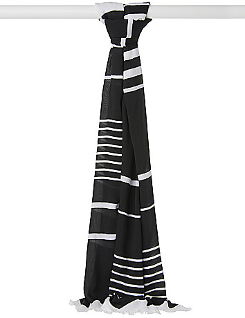 Silky striped scarf by Lane Bryant