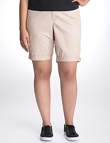 Full Figure twill Bermuda shorts