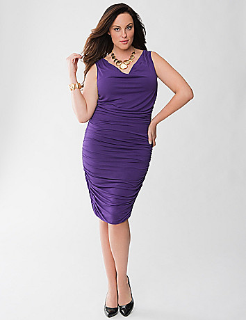 Lane Collection sleeveless shirred dress