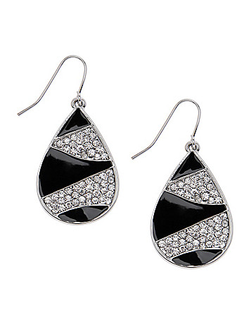 Rhinestone zebra teardrop earrings by Lane Bryant
