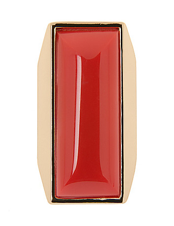 Rectangle cocktail ring by Lane Bryant