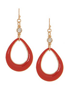 Enamel teardrop earrings by Lane Bryant