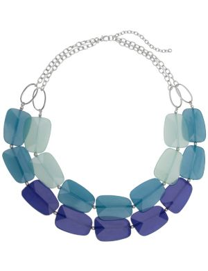 Nested faceted bead necklace by Lane Bryant