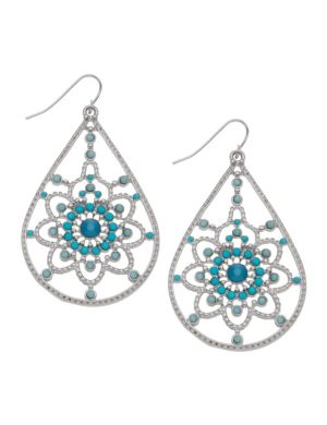 Beaded filigree earrings by Lane Bryant