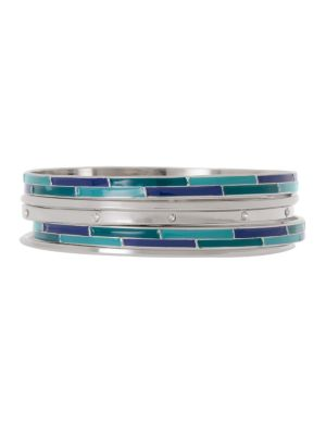 6 row rhinestone enamel bangle set by Lane Bryant