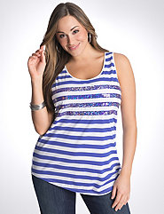 Full Figure Sequin stripe tank
