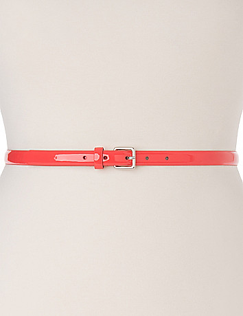Smooth Patent Skinny Belt by Lane Bryant